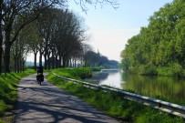 The blissfully still waters of the Belgian canals