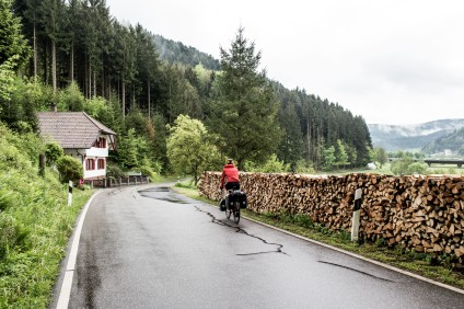 Winding our way through the stunning (but wet) Black Forest in Germany