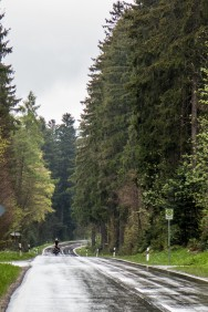Climbing the last section of the stretch to Donaueschingen, the source of the Danube, deep in the Black Forest.