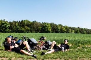 The Howies photo shoot. Definitely not posing! Near Leipheim, Germany.