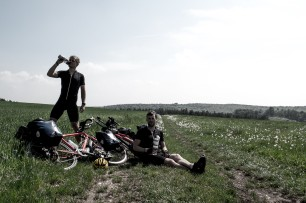 The Howies photo shoot. Definitely not posing! Near Leipheim, Germany.