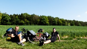 Just chilling in our Howies gear in a field... and posing a bit.