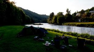 The campsite in Passau.