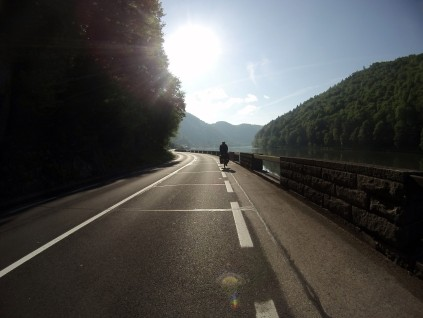 With the rain gone we were cruising along the Austrian cycle paths to Vienna.