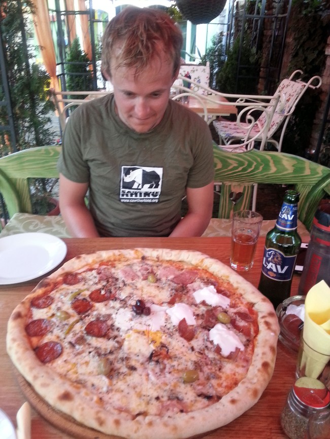 The monster pizza in Odzaci, Serbia