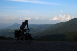 Still climbing the monster hill from Bartin to Safranbolu. It was getting dark by the time we reached the summit.