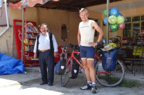 We found a really friendly shop owner who ended up making us a Turkish salad and some sandwiches. Life saver.