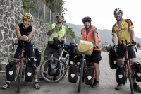 We met 2 French guys, Antoine and Boris who were also doing a big bike tour, although for a couple of years. http://lesroisdelapedale.top-depart.com/