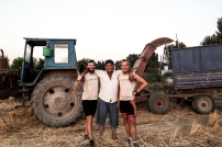Friendly farmer said we could sleep in his field. The Uzbek version of my uncle Tollie in SA... Will was particularly excited because he had a 3 wheeled tractor (3rd wheel just out of view)