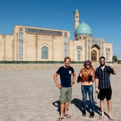 Touring Tashkent with our awesome tourguide and friend Ana (Anastasya).