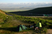 The next pass to get over to Bishkek. Camping halfway up at 2100m. Tor-Ashuu Pass, Kyrgyzstan.