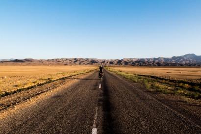 Back on the flat stuff. The desert in eastern Kazakhstan. Near Charyn Canyon, Kazakhstan.