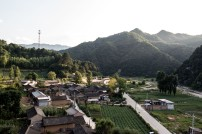 One of the many small mountain villages up in the hills. East of Tianshui, Gansu, China.