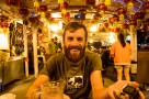 Happy Birthday Will! Definitely looking wiser than yesterday. We have cycled almost 15,000km from London to the east coast of China. Enjoying beers on Beer Street outside the Tsingtao Brewery, Qingdao, China.