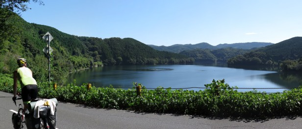 Easily some of the most stunning mountain roads of the trip. This has been the most incredible day of cycling up in the mountains. Takase Lake, Japan