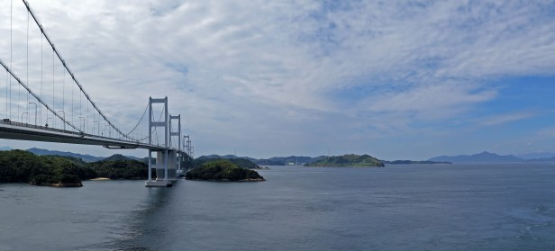 The last of the suspension bridges hopping over the islands to Shikoku, Japan