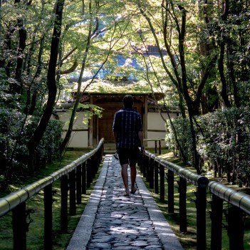 There are hundreds of picture-book Zen gardens around Kyoto. Very peaceful. Kyoto, Japan