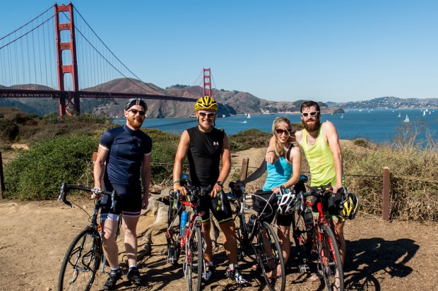 Team America assembles. Great to meet up with Reece and Anna and have them join us for the trek across the US. Golden Gate Bridge, San Francisco, CA, USA