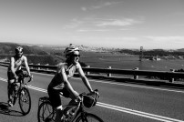 Stunning cycle up to the headlands overlooking the bay. Warmup cycle before heading out of San Francisco, CA, USA