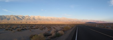 Great morning to be on the bike. Owens Lake (dry lake), CA, USA
