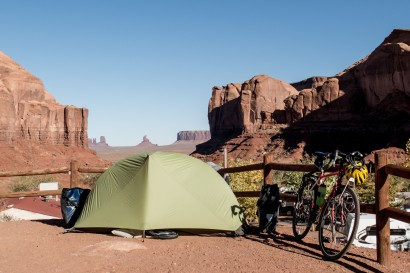 Camping with a view. Goulding's Campsite, Monument Valley, UT, USA