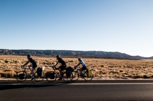 """Team Teckers"". Working together to fight the headwind. SO OPTIMISED. Near Red Mesa, AZ, USA"