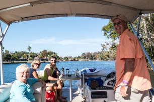 We met Tom and Cheryl in Seagrass Bar and they kindly offered to take us out in their boat the following morning to swim with manatees. What an unforgettable experience. We ended up staying at their place for the night. Thanks again! Homosassa, FL, USA