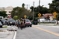 Welcome to Miami. The final 2km of the run-in to Miami. Ducks holding up proceedings. Miami, FL, USA