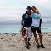 Siblings reunited. Jack flew out to cheer us over the finish line. South Beach, Miami, FL, USA